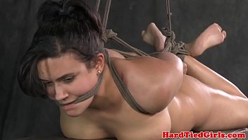 Bdsm puppy play - Hogtied bdsm busty penny barber caned