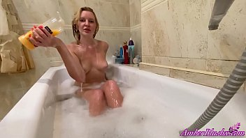 Juicy Girl Passionately Masturbates Pussy In The Bathroom to Powerful Orgasm