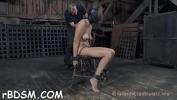 Spanked thumbs Gagged hotty is being punished for being such a doxy