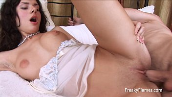 Big cock fuck for Very cute petite brunette with great natural tits
