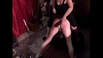 Mistress Tasha Paddles Rickker Over A Spanking Stool