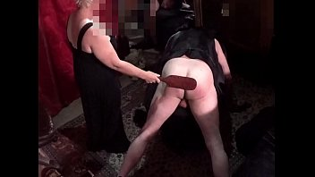 Mistress Tasha Paddles Rickker Over A Spanking Stool
