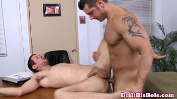 Gay specific treatment Powerful hunk enjoying anal treatment
