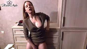 Woman on a vibrator Woman suck and play hairy pussy vibrator after teaching at school