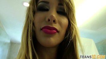 Lingerie ts beauty filmed behind the scenes