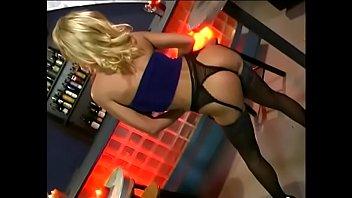 Busty Blonde Lady Zana In Blue Dress Seduces Ennuye Counterman To Poke Her