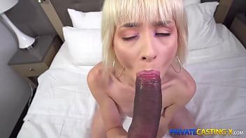 Private Casting X - Slim blonde Jessie Saint fuck and cum play