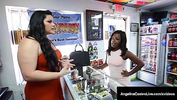 Hot Thick Angelina Castro Strap-On Dicks Big Black Harmonie!