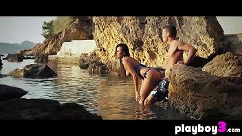 Wet horny couple enjoyed fucking at a secret beach