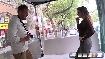 Mira Cuckold Agrees to her First Public Porn Shoot