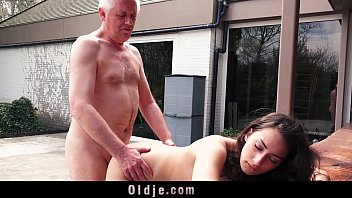 Naughty Grandpa Fucks My Teen Step-sister Licks Pussy She Swallows Cum