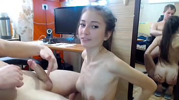 Amateur blowjob by stepsister