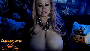 Natural boob archive - Halloween live cam show for members of sam38g dot com part 1