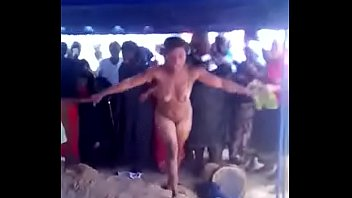 Naked woman run mad