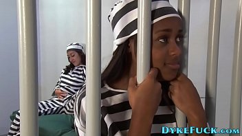Imprisoned teen lesbians eat out and trib