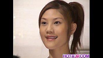 Naughty Asian teen Azusa Ayano gangbanged in hot bukkake sex scenes