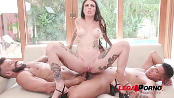 Cris Bathory rough fuck session with DP, DAP and DVP YE064