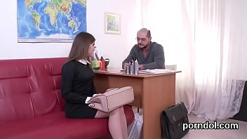 Lovable college girl was seduced and nailed by her older teacher