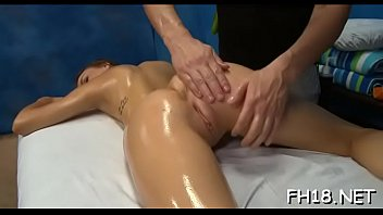 Very sexy 18 year old pretty gets drilled hard doggy position by her massage therapist