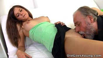 Young pussy and older man - Old goes young - sitting on the lap of older man