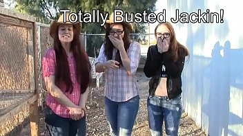 3 girls bust you jacking off CFNM taboo jo encouragement