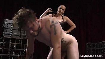 Horny mistress enjoys anal with a dude