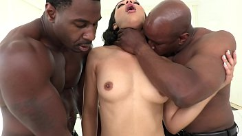 Girls first anal penetration - Allblackx - first dp for ebony diamond banks