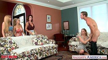 Moms Darla Crane, Holly Halston and Julia Ann sharing cock