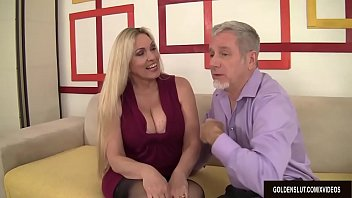 Mature Blonde Cala Craves Sucks a Thick Cock and Takes It in Her Pussy thumbnail