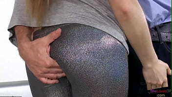 Horny brunette needs DP cocks to satisfy her