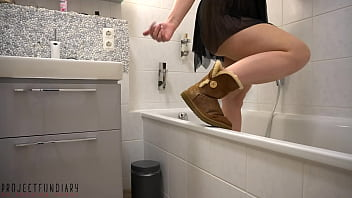 dirty mess on my Ugg boots – pussy juice, cum and golden shower fun, projectfundiary
