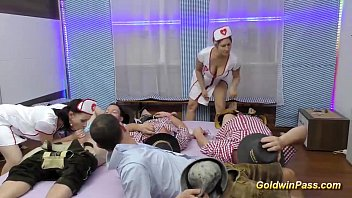 Sexy nurses movies Nurses in lederhosen gangbang orgy