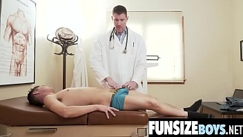 Doctor sucking a twinks dick Small size boys tight hole fucked by huge cock doctor during exam-funsizeboys.net