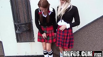 Two Stranded Schoolgirls (Dominica Phoenix, Jessi Gold) get picked up and fucked - Mofos