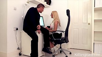 Hot big boos blonde secretary fucks big cock stud