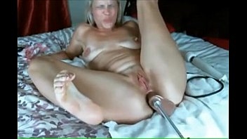 Amature ass masturbation - Blonde cums from anal with machine
