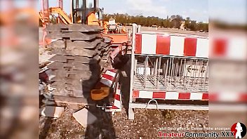 ANAL! DP deluxe! German girl picked up peeing at construction site! thumbnail