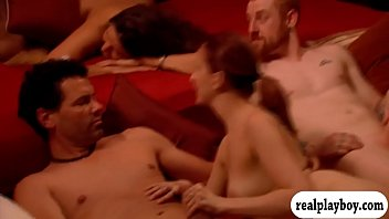 Fuck group swinger - Group of swingers swap partner and orgy in the red room
