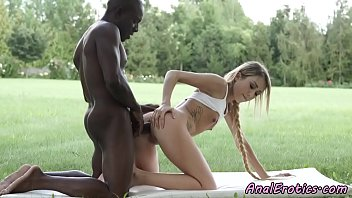 Young beauty buttfucked passionately by bbc