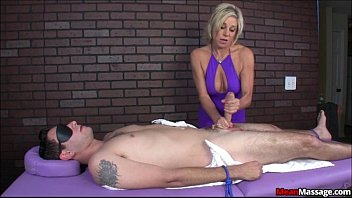 Janelle hall upskirt Blindfolded and teased brad eventually gets a happy ending