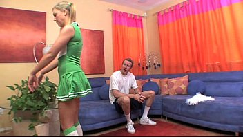 Female self facial hot cheerleader caught