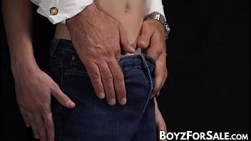 Dominant daddy dildo fucking sub twink really hard