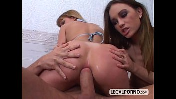 Two young chicks fucked in the ass by a big cock GB-6-04