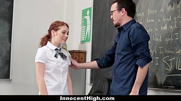 Naked red hair green eyes Innocenthigh - slutty schoolgirl seduces her teacher