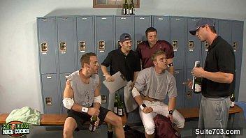 Gay lockerroom jock pics Threesome jocks in locker room
