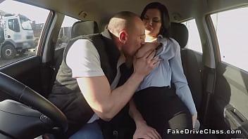 Guy bangs pierced cunt examiner in car pornhub video
