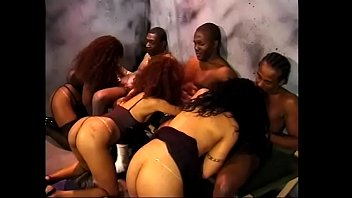 Black prisoner are not wasting time in the one cell with whores
