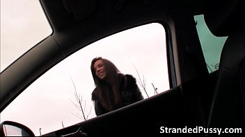 Gorgeous Sexy Babe Gina Gets Fucked In The Car By The Strangers Big Dick