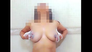 Pranya fondling her boobs and inviting