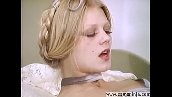 Vintage stockings excita - Hot blonde anna magle masturbates and cums in vintage porn